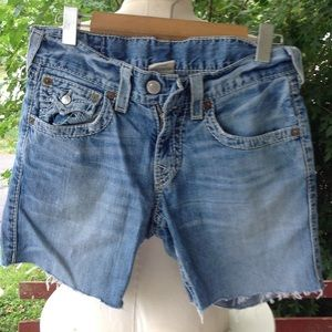True religion Jean Shorts.